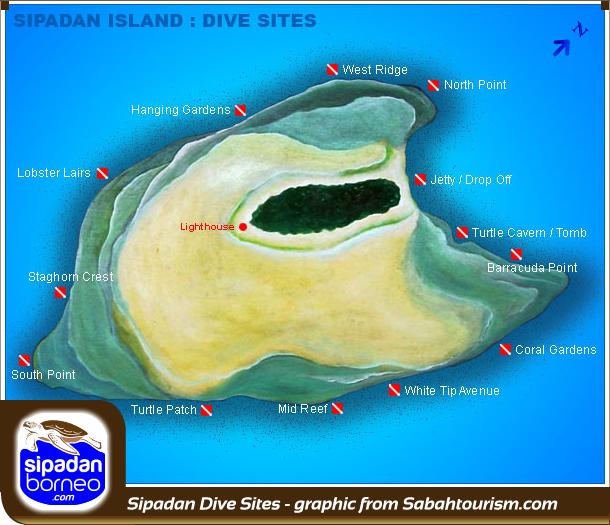Sipadan info - Sipadan dive sites ...