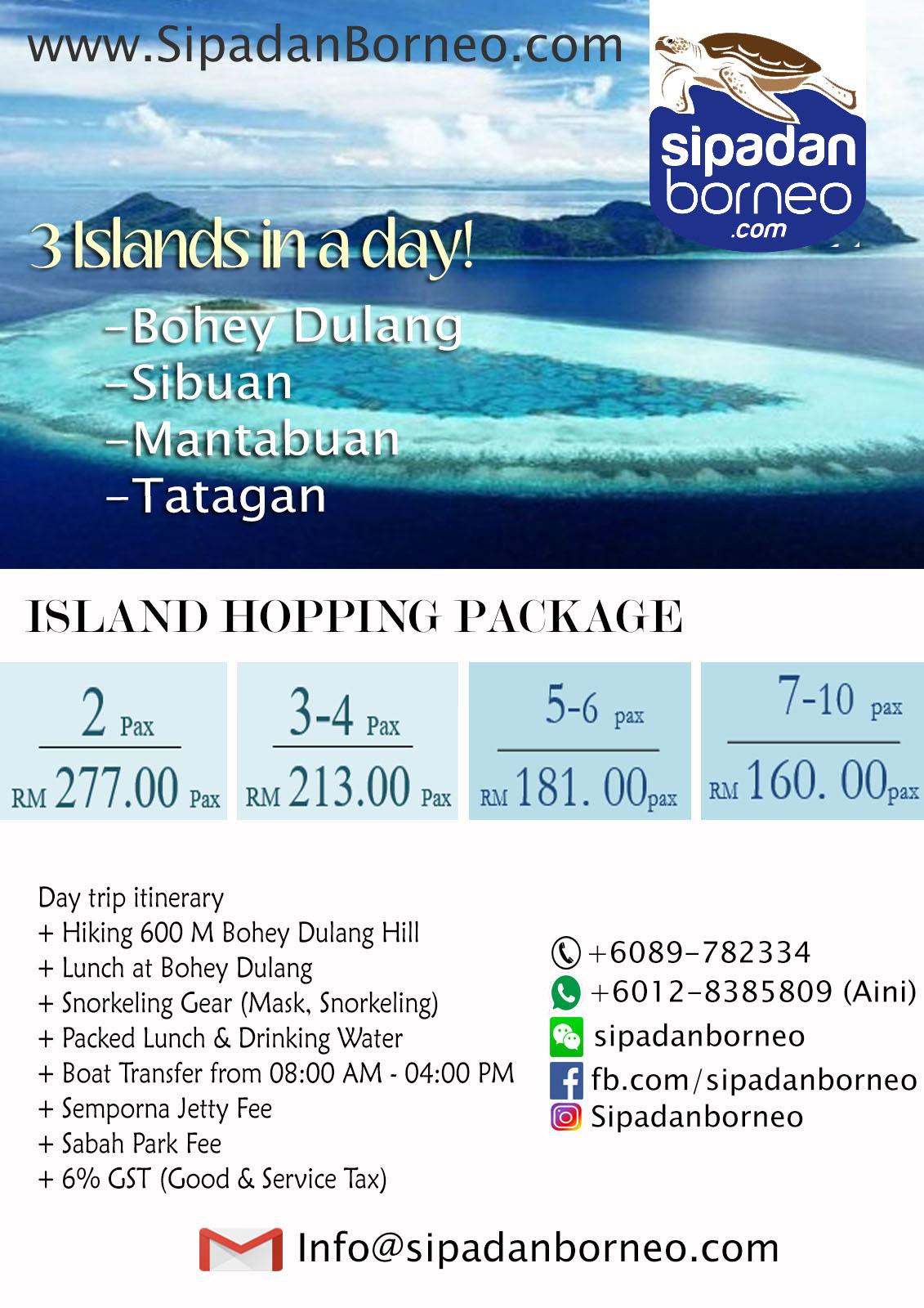 Flyer Island Hoping Sipadanborneo.com